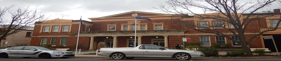 Yass, soldiers memorial hall