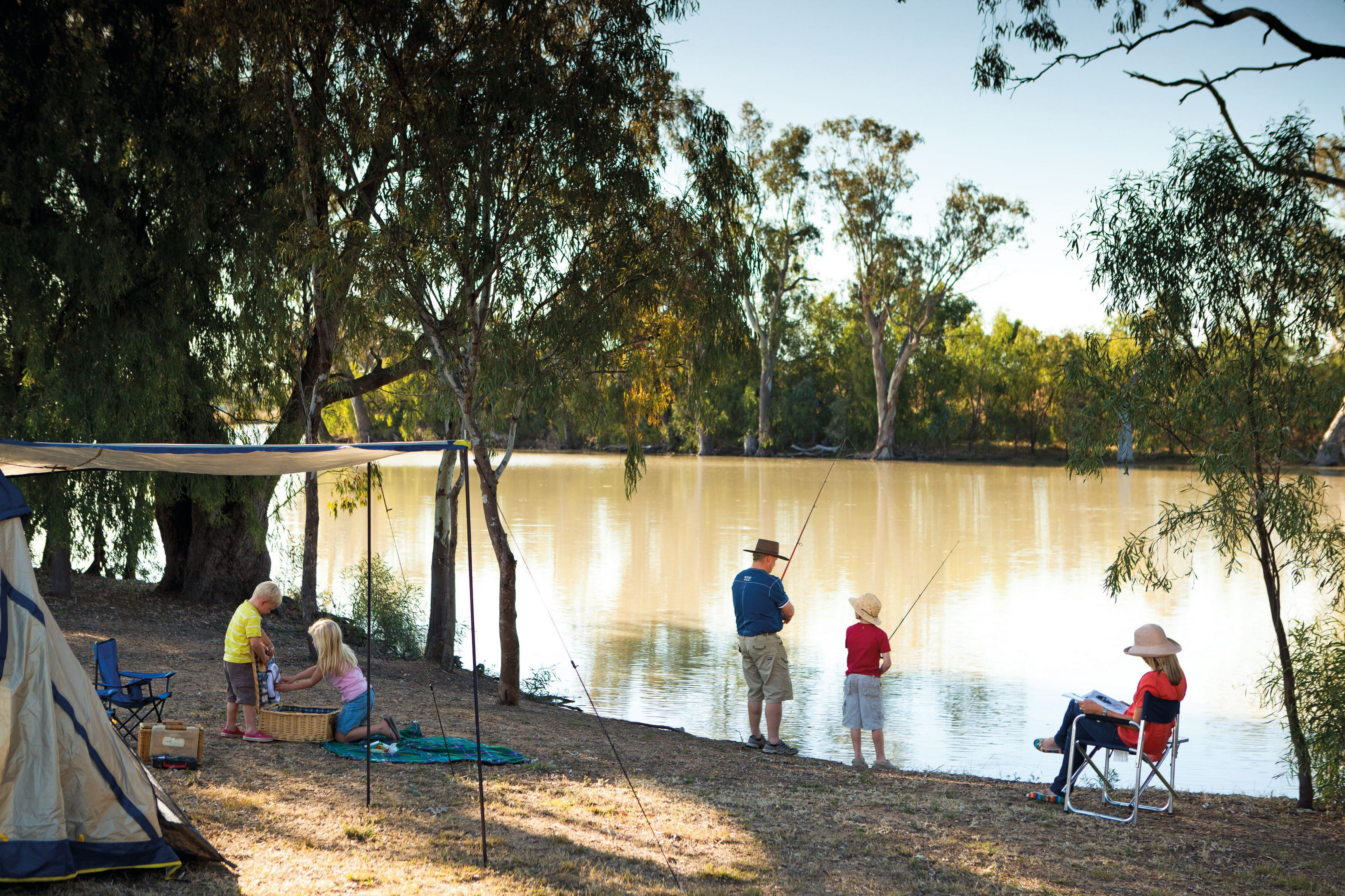 Fishing and Camping on the McIntrye River