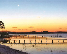 Tuggerah lakes sunset and jetty