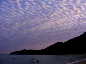 Sunset at Hydeaway Bay and Cape Gloucester, The Whitsundays